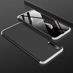 Handyhülle Hülle Kunststoff Schutzhülle Tasche Matt Vorder und Rückseite 360 Grad für Samsung Galaxy A50 Silber und Schwarz