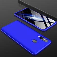 Handyhülle Hülle Kunststoff Schutzhülle Tasche Matt Vorder und Rückseite 360 Grad für Samsung Galaxy A60 Blau