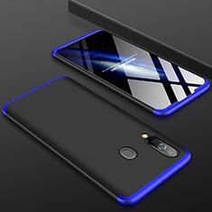 Handyhülle Hülle Kunststoff Schutzhülle Tasche Matt Vorder und Rückseite 360 Grad für Samsung Galaxy A60 Blau und Schwarz