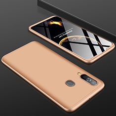 Handyhülle Hülle Kunststoff Schutzhülle Tasche Matt Vorder und Rückseite 360 Grad für Samsung Galaxy A60 Gold