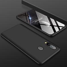 Handyhülle Hülle Kunststoff Schutzhülle Tasche Matt Vorder und Rückseite 360 Grad für Samsung Galaxy A60 Schwarz