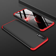 Handyhülle Hülle Kunststoff Schutzhülle Tasche Matt Vorder und Rückseite 360 Grad für Samsung Galaxy A70 Rot und Schwarz
