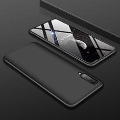 Handyhülle Hülle Kunststoff Schutzhülle Tasche Matt Vorder und Rückseite 360 Grad für Samsung Galaxy A70 Schwarz