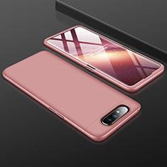 Handyhülle Hülle Kunststoff Schutzhülle Tasche Matt Vorder und Rückseite 360 Grad für Samsung Galaxy A90 4G Rosegold