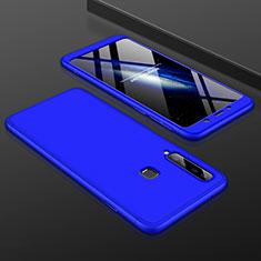 Handyhülle Hülle Kunststoff Schutzhülle Tasche Matt Vorder und Rückseite 360 Grad für Samsung Galaxy A9s Blau