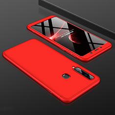 Handyhülle Hülle Kunststoff Schutzhülle Tasche Matt Vorder und Rückseite 360 Grad für Samsung Galaxy A9s Rot
