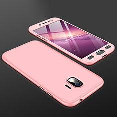 Handyhülle Hülle Kunststoff Schutzhülle Tasche Matt Vorder und Rückseite 360 Grad für Samsung Galaxy Grand Prime Pro (2018) Rosa