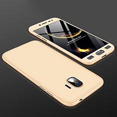 Handyhülle Hülle Kunststoff Schutzhülle Tasche Matt Vorder und Rückseite 360 Grad für Samsung Galaxy J2 Pro (2018) J250F Gold