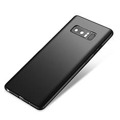 Handyhülle Hülle Kunststoff Schutzhülle Tasche Matt Vorder und Rückseite 360 Grad für Samsung Galaxy Note 8 Schwarz
