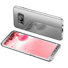 Handyhülle Hülle Kunststoff Schutzhülle Tasche Matt Vorder und Rückseite 360 Grad für Samsung Galaxy S8 Plus Silber