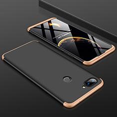 Handyhülle Hülle Kunststoff Schutzhülle Tasche Matt Vorder und Rückseite 360 Grad für Xiaomi Mi 8 Lite Gold und Schwarz
