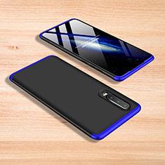 Handyhülle Hülle Kunststoff Schutzhülle Tasche Matt Vorder und Rückseite 360 Grad für Xiaomi Mi A3 Lite Blau und Schwarz