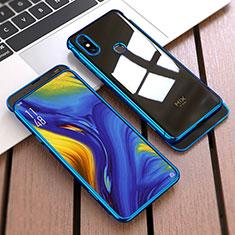 Handyhülle Hülle Kunststoff Schutzhülle Tasche Matt Vorder und Rückseite 360 Grad für Xiaomi Mi Mix 3 Blau