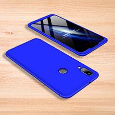Handyhülle Hülle Kunststoff Schutzhülle Tasche Matt Vorder und Rückseite 360 Grad für Xiaomi Mi Play 4G Blau