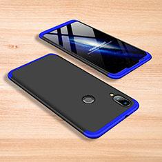 Handyhülle Hülle Kunststoff Schutzhülle Tasche Matt Vorder und Rückseite 360 Grad für Xiaomi Mi Play 4G Blau und Schwarz