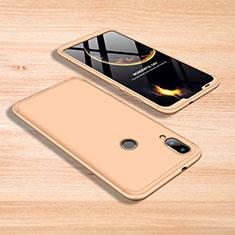 Handyhülle Hülle Kunststoff Schutzhülle Tasche Matt Vorder und Rückseite 360 Grad für Xiaomi Mi Play 4G Gold