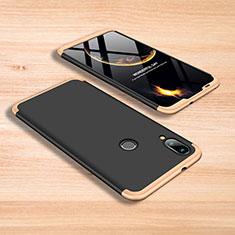 Handyhülle Hülle Kunststoff Schutzhülle Tasche Matt Vorder und Rückseite 360 Grad für Xiaomi Mi Play 4G Gold und Schwarz