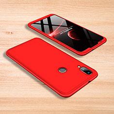 Handyhülle Hülle Kunststoff Schutzhülle Tasche Matt Vorder und Rückseite 360 Grad für Xiaomi Mi Play 4G Rot