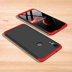 Handyhülle Hülle Kunststoff Schutzhülle Tasche Matt Vorder und Rückseite 360 Grad für Xiaomi Mi Play 4G Rot und Schwarz