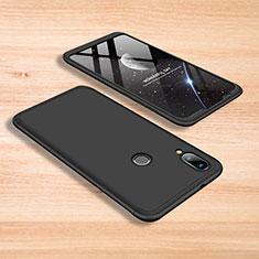 Handyhülle Hülle Kunststoff Schutzhülle Tasche Matt Vorder und Rückseite 360 Grad für Xiaomi Mi Play 4G Schwarz