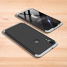 Handyhülle Hülle Kunststoff Schutzhülle Tasche Matt Vorder und Rückseite 360 Grad für Xiaomi Mi Play 4G Silber