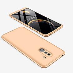 Handyhülle Hülle Kunststoff Schutzhülle Tasche Matt Vorder und Rückseite 360 Grad für Xiaomi Pocophone F1 Gold