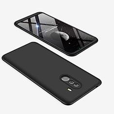 Handyhülle Hülle Kunststoff Schutzhülle Tasche Matt Vorder und Rückseite 360 Grad für Xiaomi Pocophone F1 Schwarz