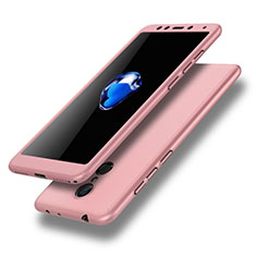Handyhülle Hülle Kunststoff Schutzhülle Tasche Matt Vorder und Rückseite 360 Grad für Xiaomi Redmi 5 Rosa