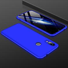 Handyhülle Hülle Kunststoff Schutzhülle Tasche Matt Vorder und Rückseite 360 Grad für Xiaomi Redmi 7 Blau