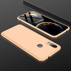 Handyhülle Hülle Kunststoff Schutzhülle Tasche Matt Vorder und Rückseite 360 Grad für Xiaomi Redmi 7 Gold