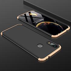 Handyhülle Hülle Kunststoff Schutzhülle Tasche Matt Vorder und Rückseite 360 Grad für Xiaomi Redmi 7 Gold und Schwarz