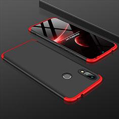 Handyhülle Hülle Kunststoff Schutzhülle Tasche Matt Vorder und Rückseite 360 Grad für Xiaomi Redmi 7 Rot und Schwarz