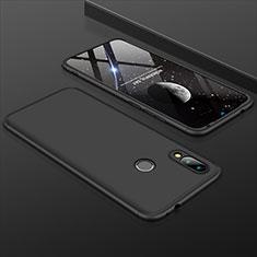 Handyhülle Hülle Kunststoff Schutzhülle Tasche Matt Vorder und Rückseite 360 Grad für Xiaomi Redmi 7 Schwarz