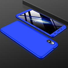Handyhülle Hülle Kunststoff Schutzhülle Tasche Matt Vorder und Rückseite 360 Grad für Xiaomi Redmi 7A Blau