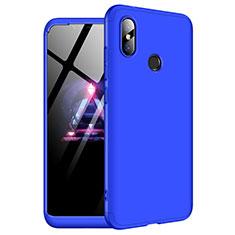 Handyhülle Hülle Kunststoff Schutzhülle Tasche Matt Vorder und Rückseite 360 Grad für Xiaomi Redmi Note 6 Pro Blau