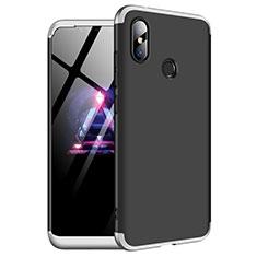 Handyhülle Hülle Kunststoff Schutzhülle Tasche Matt Vorder und Rückseite 360 Grad für Xiaomi Redmi Note 6 Pro Silber
