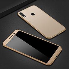 Handyhülle Hülle Kunststoff Schutzhülle Tasche Matt Vorder und Rückseite 360 Grad M01 für Huawei P Smart (2019) Gold