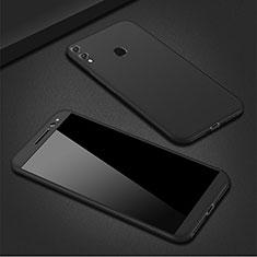 Handyhülle Hülle Kunststoff Schutzhülle Tasche Matt Vorder und Rückseite 360 Grad M01 für Huawei P Smart (2019) Schwarz