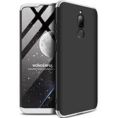 Handyhülle Hülle Kunststoff Schutzhülle Tasche Matt Vorder und Rückseite 360 Grad M01 für Xiaomi Redmi 8 Silber und Schwarz