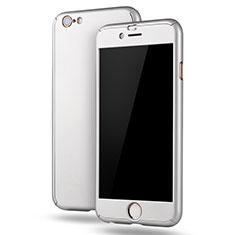 Handyhülle Hülle Kunststoff Schutzhülle Tasche Matt Vorder und Rückseite 360 Grad M02 für Apple iPhone 6S Plus Weiß