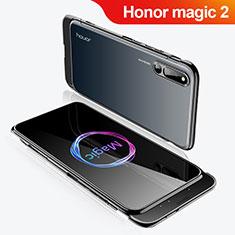 Handyhülle Hülle Kunststoff Schutzhülle Tasche Matt Vorder und Rückseite 360 Grad M02 für Huawei Honor Magic 2 Schwarz