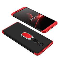 Handyhülle Hülle Kunststoff Schutzhülle Tasche Matt Vorder und Rückseite 360 Grad mit Fingerring Ständer für Xiaomi Redmi 5 Plus Plusfarbig