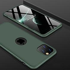 Handyhülle Hülle Kunststoff Schutzhülle Tasche Matt Vorder und Rückseite 360 Grad P01 für Apple iPhone 11 Pro Grün
