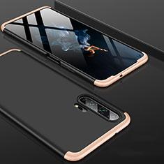 Handyhülle Hülle Kunststoff Schutzhülle Tasche Matt Vorder und Rückseite 360 Grad P01 für Huawei Honor 20 Pro Gold und Schwarz