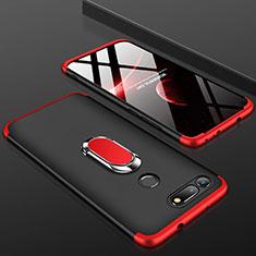 Handyhülle Hülle Kunststoff Schutzhülle Tasche Matt Vorder und Rückseite 360 Grad P01 für Huawei Honor V20 Rot und Schwarz