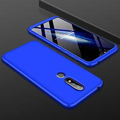 Handyhülle Hülle Kunststoff Schutzhülle Tasche Matt Vorder und Rückseite 360 Grad P01 für Nokia X6 Blau