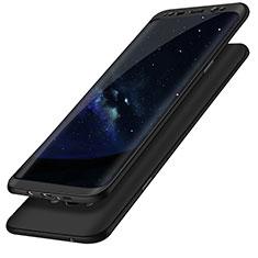Handyhülle Hülle Kunststoff Schutzhülle Tasche Matt Vorder und Rückseite 360 Grad Q02 für Samsung Galaxy S8 Schwarz