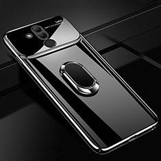 Handyhülle Hülle Kunststoff Schutzhülle Tasche Spiegel 360 Grad mit Magnetisch Fingerring Ständer für Huawei Mate 20 Lite Schwarz