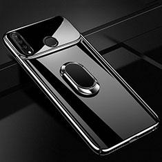 Handyhülle Hülle Kunststoff Schutzhülle Tasche Spiegel 360 Grad mit Magnetisch Fingerring Ständer für Huawei P30 Lite Schwarz