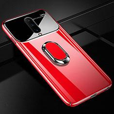 Handyhülle Hülle Kunststoff Schutzhülle Tasche Spiegel 360 Grad mit Magnetisch Fingerring Ständer für OnePlus 7 Pro Rot